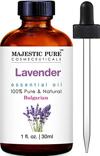 Majestic Pure Bulgarian Lavender Essential Oil, 100% Pure and Natural with Therapeutic Grade, Premium Quality Bulgarian Lavender Oil, 1 fl. oz. (Organic Food Gift Baskets Online)