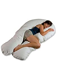 Moonlight Slumber - Comfort U Total Body Support Pillow - White (Full Size) BOBEBE Online Baby Store From New York to Miami and Los Angeles