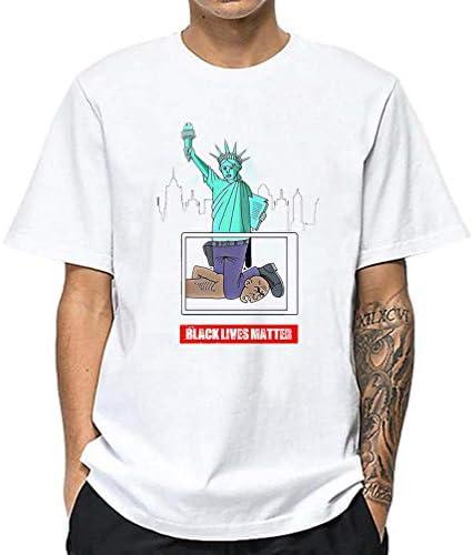 Xdsy I Cant Breathe Sommer Black Lives Matter bawełna T-Shirt swobodny krÓtki rękaw: Sport & Freizeit