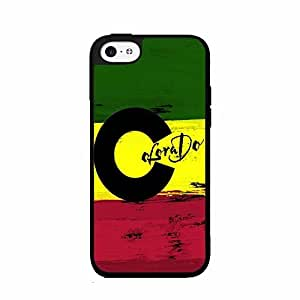 Rasta Colorado Flag TPU RUBBER SILICONE Phone Case Back Cover iPhone 6 plus 5.5 includes diy case Cloth and Warranty Label