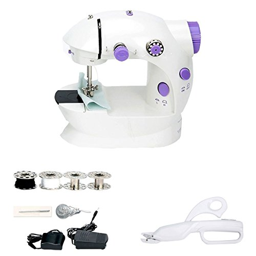 8milelake Mini Sewing Machine 2-Speed with Foot Pedal & Cordless Battery-Operated Handheld Electric Scissors by 8MILELAKE