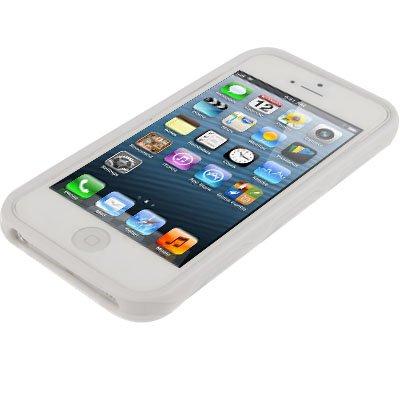 """iPhone 5 / 5S Hülle / Case aus Silikon in weiß / weiss im """"Hexagon-Style"""" -Original nur von THESMARTGUARD-"""
