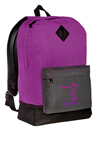 Gymnastics Personalized Retro Backpack (Electric (Personalized Girl Backpacks)