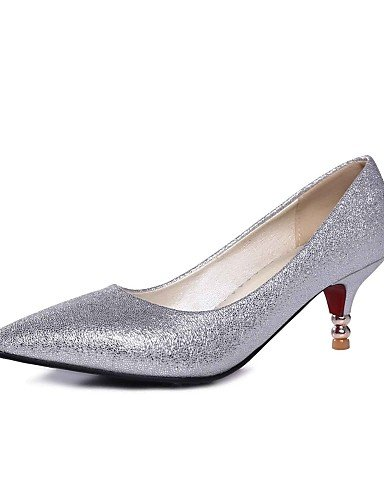 gold Heels 5 andere Toe us6 Stiletto 5 Sommer uk4 amp; 5 Schuhe PU cn37 Absatz Karriere red GGX 7 Office Casual silber spitz rot Damen eu37 HpaYWY