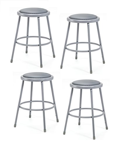 Vinyl Seating - National Public Seating 6424-CN Steel Stool with 24