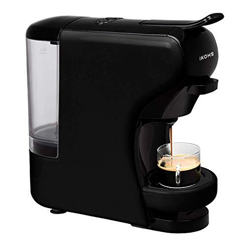 CREATE IKOHS Máquina de Café Espresso Italiano – Cafetera Multi Cápsulas Compatible Nespresso 3 en 1, 19 Bares con 2…