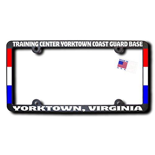 TRAINING CENTER YORKTOWN COAST GUARD BASE - YORKTOWN, VIRGINIA License Frame w/Reflective Text & - Center Yorktown