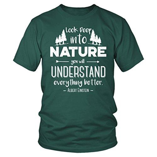 d869a437 Albert Einstein T-Shirt 2685mi - Look Deep into Nature Quote - Unisex Tee