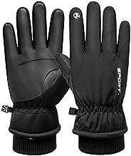 1 par de luvas térmicas de dedo inteiro para motociclismo, luvas esportivas à prova de vento, luvas de inverno