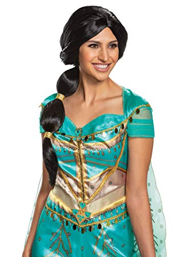 Jasmine Costumes For Adults (Disguise Women's Jasmine Adult Wig, Brown, One)