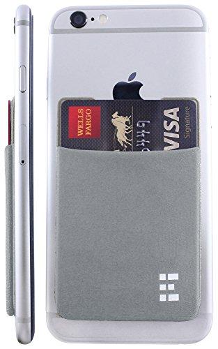 rd Holder Stick On Wallet Case w/RFID Blocking (Silver) ()