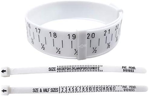 Schmuckmessgerät Größe Gauge – 1 Stück Ringgrößenmesser + 1 Stück Fingergrößenmesser + 1 Stück Armbandmaß