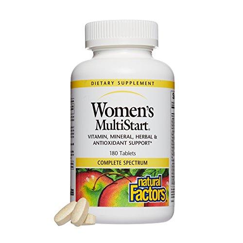 Cheap Natural Factors – Dr. Murray's Women's MultiStart Formula, Vitamin, Mineral, Herbal & Antioxidant Support, 180 Tablets