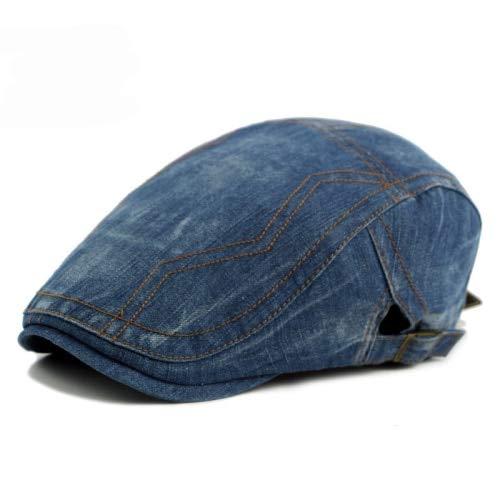 Amazon.com: Funnmart Cotton Gorras Planas Male Beret Hats Vintage Flat Cap Boinas Berets 2017 Denim Beret Cap Casquette Cabbie Cap: Kitchen & Dining