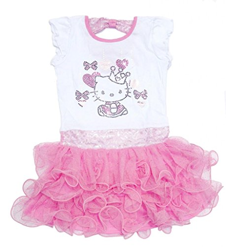 Hello Kitty Little Girls' Tutu Dress 6x Plus-Size -