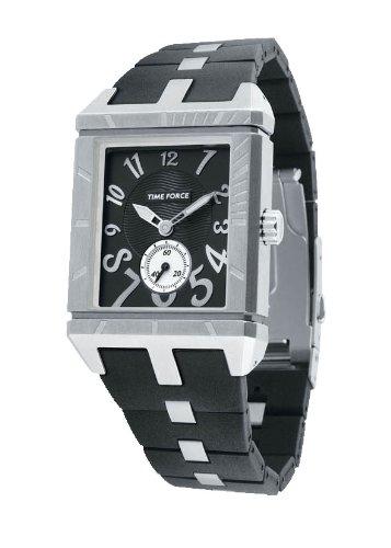 Time Force TF2958L01 - Reloj analógico de caballero de cuarzo con correa negra - sumergible a
