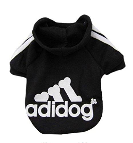 Imixcity Pet Dog Cat Sweater Puppy T Shirt Warm Hooded Coat Clothes Apparel(Black,XXL)