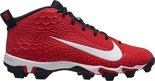 Nike Men's Force Trout 5 Pro Keystone Baseball Cleats (Red/White, 10.5 M US)