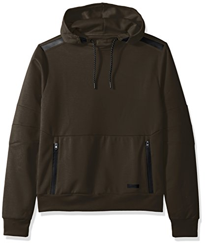 Southpole Men's Tech Fleece Hooded Tops (Full-Zip, Pullover), Olive(Pullover), (Seamless Hoodie Top)