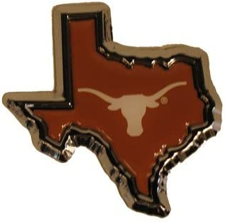 University of Texas Longhorns Orange State Shape Longhorn Color /& Chrome Plated Premium Metal Car Truck Motorcycle NCAA College Emblem