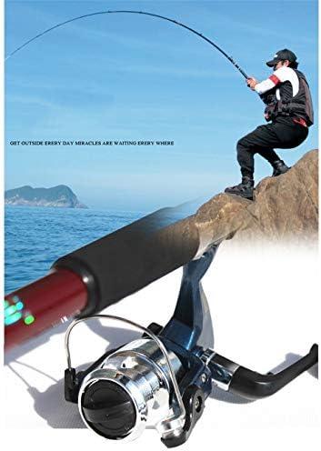 YROD Angelrute Und Spinning Reel Combos Früher Hohe Härte Teleskopisch Flexibel Kohlenstoff Angel Mit Tragbare Tasche, Angelleine