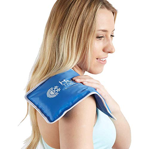 Roscoe Reusable Cold Pack and Hot Pack - Ice Pack For Knee, Shoulder, Back, Injuries - Microwave Heating Pad, 7.5 x 11 Inches