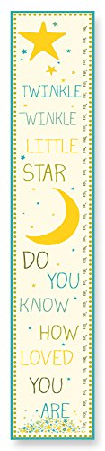 The Kids Room by Stupell Twinkle, Twinkle Little Star Growth Chart, 7 x 0.5 x 39, Proudly Made in USA
