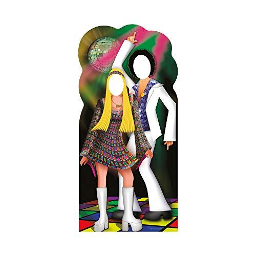 Star Cutouts SC190 Disco Couple Stand-In Cardboard Cutout Standup -