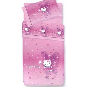 Copriletto Hello Kitty Singolo.Copriletto Trapuntato Gabel Hello Kitty Fairy Rosa Per Lettino