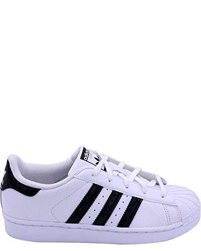 adidas Originals Unisex-Kids Superstar C, White/Core Black/White, 2 M US Little Kid by adidas Originals