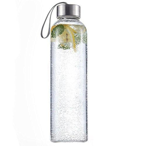 500ml Sport Glas Getränk Wasser Flasche BPA frei tragbar Umweltfreundlich Flasche auslaufsicher Stilvolle, tragbare Wasser Flaschen htuk®