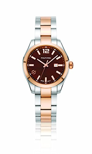 Philip Stein Women's Traveler Swiss-Quartz Watch with Two-Tone-Stainless-Steel Strap, 8 (Model: 91TRG-CCHMOP-SSTRG