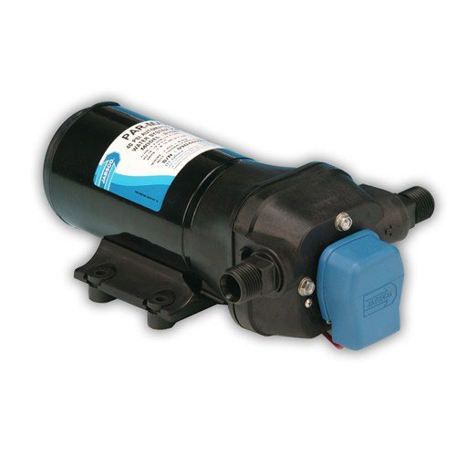 Jabsco 31620-0092 Marine ParMax 4 High Pressure Water System Pump (4.3-GPM, 40-PSI, 12-Volt, 15-Amp, Up to 5 Outlets), Black