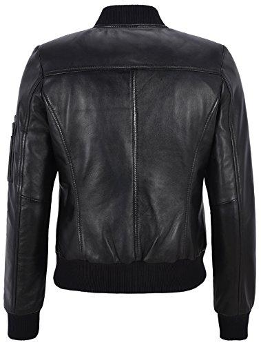 Cuir Jacket Mesdames Se Démarquer Smart Black Kloss Range En 2348 Biker Bomber Rétro Karlie Cool QECxWdBoer