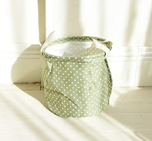 TtKj Cotton Hemp Storage Basket Storage Bucket Waterproof Small Cloth Bucket Desktop Sundries Finishing and Storage