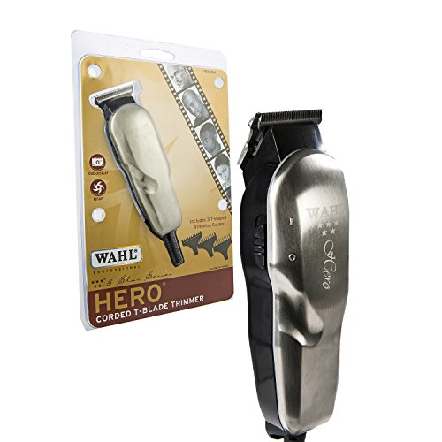 Price comparison product image Wahl Professional 5 Star Hero Corded T Blade Trimmer #8991 – Great for Barbers and Stylists – Powerful Standard Electromagnetic Motor – Includes 3 Guides, Oil, and Cleaning Brush