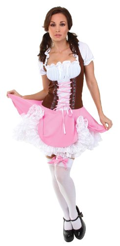 Beer Girl Sexy Costumes (Underwraps Women's Heidi, Pink/Brown/White, X-Large)