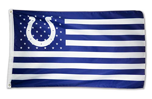 WHGJ Indianapolis Colts NFL 3x5 FT Flag Super Bowl Stars and Stripes Indoor/Outdoor Sports Banner