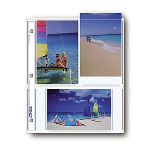 Print File Photo Pages Holds Six 4x6'' Prints, Pack of 500 by Print File