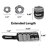 Henkelion 1 Pair 6Lbs Adjustable Ankle Weights