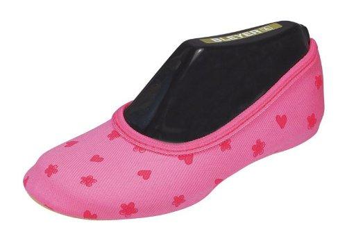 Bleyer Gymnastikschuhe pink Herz Blumen (25)
