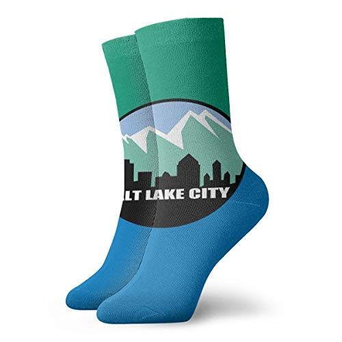 Flag Of Salt Lake City Colorful Crazy Socks Comfortable Novelty Socks]()