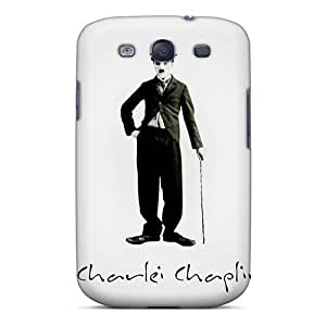Galaxy Case - Tpu Case Protective For Galaxy S3- Charlei Chaplin by lolosakes