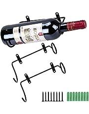 2 stuks Wijnfleshouder Plus wandwijnrek Rode wijnfles Displayhouder met schroeven Wandgemonteerde wijnrekken Aanbrengen op opbergrek Houder voor flessenopslag Fles Mond naar Rechtsaf