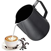 ابريق تبخير الاسبريسو من ميبرو، لتحضير رغوة الحليب للقهوة والكاباتشينو ومشروبات اللاتيه (لون برتقالي، 350 مل)