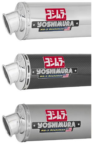 - Yoshimura RS-3 Bolt-On - Stainless Steel , Material: Stainless Steel ZX649SO