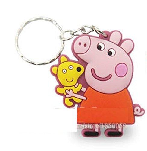 Peppa Pig – Llavero rosa Peppa y Teddy: Amazon.es: Joyería