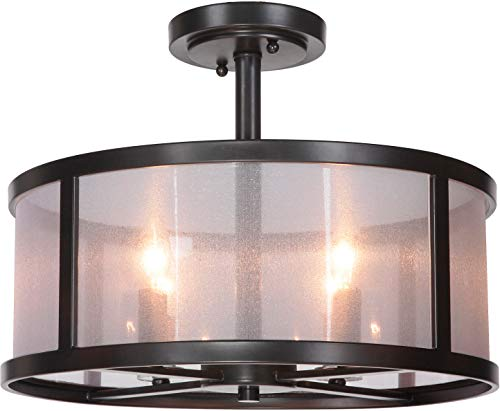Craftmade 36754-MBK 4 Light Semi Flush