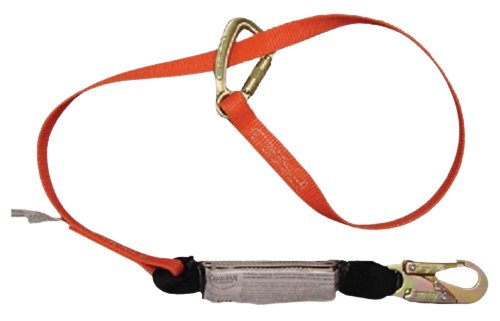 Guardian Fall Protection 11855 Single Leg Shock Stop Triple Lock Wrap Lanyard, Adjustable from 4-Feet to 6-Feet