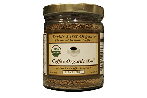 Organic Certified Hazelnut Instant Coffee 2.35 oz 48 servings